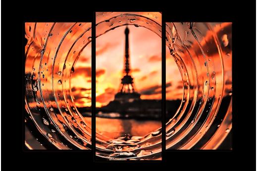 Модульная картина Дождливый Париж