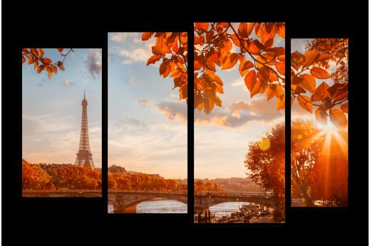 Модульная картина Осень в Париже